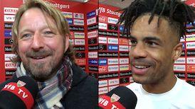 Die VfB Interviews nach dem Heimspiel gegen Aue