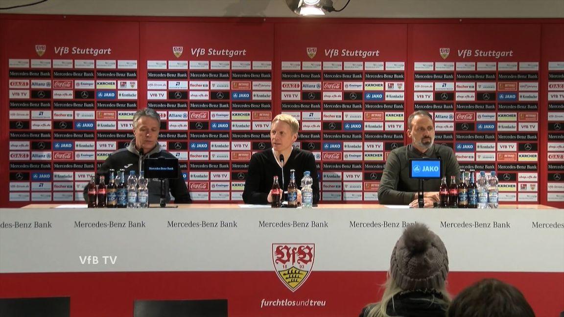 Pressekonferenz: VfB Stuttgart - Arminia Bielefeld