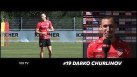 Darko Churlinov nach der Mittwochseinheit