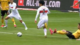 1. Halbzeit: Dresden - VfB Stuttgart