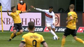 2. Halbzeit: Dresden - VfB Stuttgart