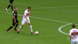 1. Halbzeit: VfB Stuttgart - Sandhausen