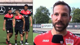 Gonzalo Castro am VfBTV Mikrofon