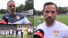 Die Interviews nach dem Testspiel gegen Racing Strasbourg