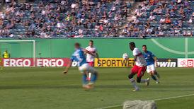 1. Halbzeit: Hansa Rostock - VfB Stuttgart