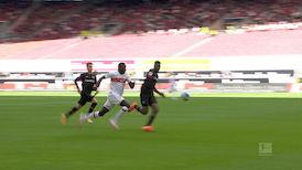 1. Halbzeit: VfB Stuttgart - Leverkusen