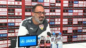 Die virtuelle Presserunde vor dem Spiel gegen Hertha BSC Berlin