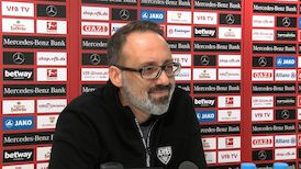 Die virtuelle Presserunde vor dem Spiel beim VfL Wolfsburg
