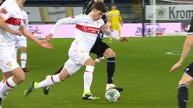 1. Halbzeit: Arminia Bielefeld - VfB Stuttgart