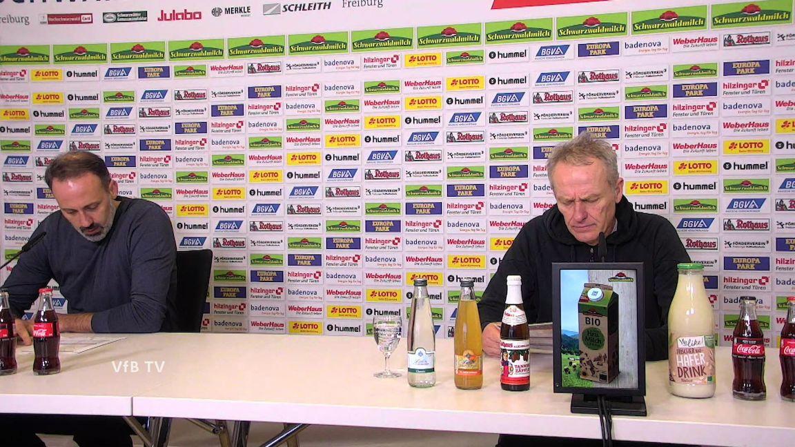 Pressekonferenz: SC Freiburg - VfB Stuttgart
