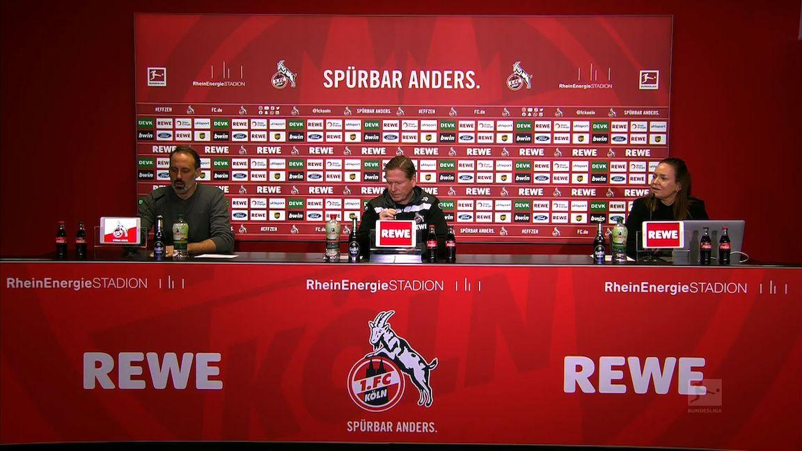 Pressekonferenz: 1. FC Köln - VfB Stuttgart