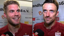 Interviews nach dem Spiel in Sandhausen